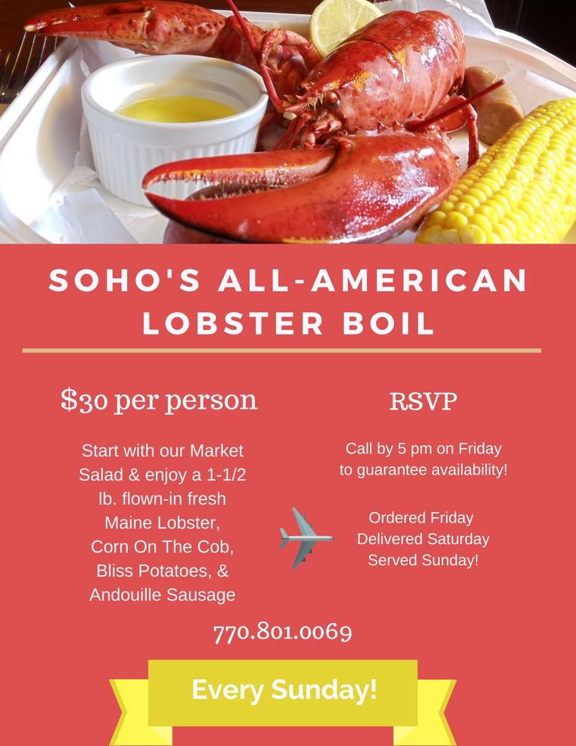 SOHO's All-American Lobster Boil